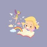 Imaginación de la muchacha del niño Imagen de archivo libre de regalías