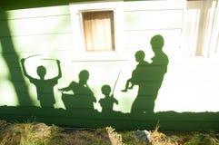 Imaginación de los niños de la familia de la sombra Imagen de archivo libre de regalías