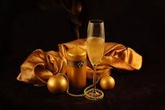 Imaginación del oro del Año Nuevo Imagen de archivo libre de regalías