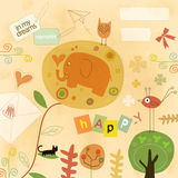 Imaginación feliz stock de ilustración
