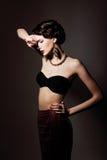 Imaginação. Mulher afetuosa volutuoso na fantasia. Tentação & Passsion Fotos de Stock Royalty Free