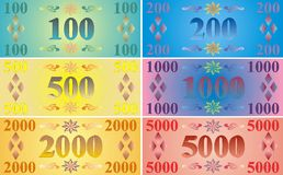 Imaginary bank notes Stock Photography