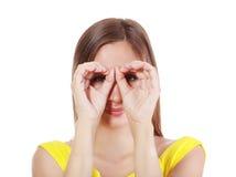 Imaginary binocular Stock Photo