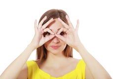 Imaginary binocular Royalty Free Stock Image