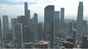 Imaginary city 2. A 3d model of an imaginary city illustration Stock Photos