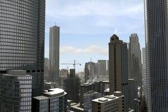 Imaginary city 22. A 3d model of an imaginary city illustration stock illustration