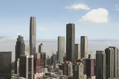 Imaginary city 23. A 3d model of an imaginary city illustration Stock Photos
