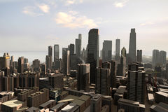 Imaginary city 24. A 3d model of an imaginary city illustration Stock Photos