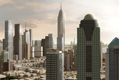 Imaginary city 56. A 3d model of an imaginary city illustration Royalty Free Stock Images