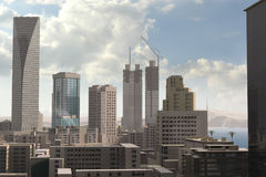 Imaginary city 84. A 3d model of an imaginary city illustration Stock Photos
