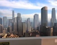 Imaginary city 9. A 3d model of an imaginary city illustration Royalty Free Stock Photos