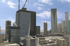 Imaginary city 91 Stock Photo