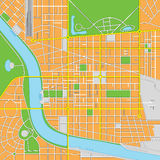 Imaginary City Vector Map Stock Images