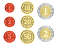 Imaginary collection of coins Royalty Free Stock Images