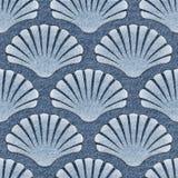 Imaginary decorative seashells - Interior Design wallpaper Stock Images