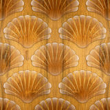 Imaginary decorative seashells - Interior Design wallpaper Royalty Free Stock Photography