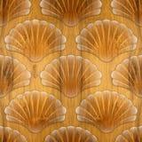 Imaginary decorative seashells - Interior Design wallpaper Royalty Free Stock Photography