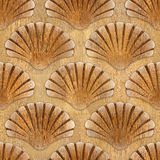 Imaginary decorative seashells - Interior Design wallpaper Stock Photo