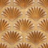 Imaginary decorative seashells - Interior Design wallpaper Stock Photo