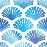 Imaginary decorative seashells. Wallpaper texture background. Vector seamless patterns. Royalty Free Stock Photography