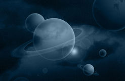 Imaginary deep space Royalty Free Stock Photography
