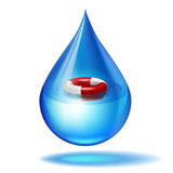 Imaginary drip about rescue Stock Images