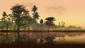 Imaginary landscape Stock Image
