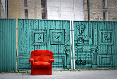An imaginary living room Royalty Free Stock Image