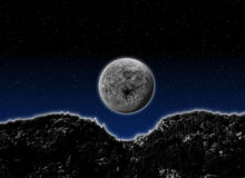 Imaginary Moonlight Night. Background suitable for Custom Content Royalty Free Stock Photo