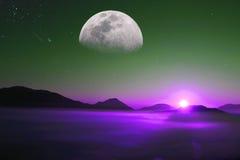 Imaginary planet Stock Image