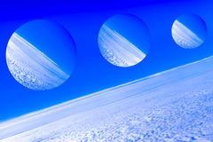 Imaginary planets, depiction of a space of fantasy royalty free stock photography