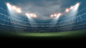 The Imaginary Soccer Stadium, 3d rendering royalty free illustration