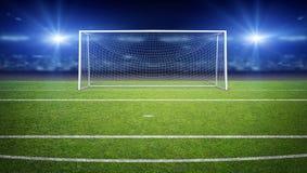 The Imaginary Soccer Stadium, 3d rendering. The imaginary soccer stadium is modelled and rendered vector illustration