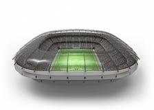 The Imaginary Soccer Stadium, 3d rendering. The imaginary soccer stadium is modelled and rendered royalty free illustration