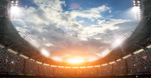 The Imaginary Soccer Stadium, 3d rendering Royalty Free Stock Photography