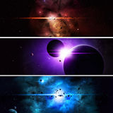 Imaginary Space Banners Stock Photography