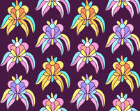 Imaginary tropical exotic flowers seamless background Stock Image