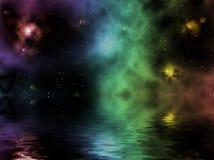 Imaginary universe with pretty nebula Stock Photography