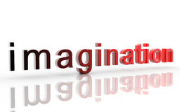 Imagination. Digital illustration of imagination in 3d on digital background Royalty Free Stock Photos