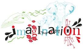 Imagination. Artistic image of the word imagination royalty free illustration