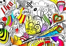 Imagination. Inner life of an artist vector illustration