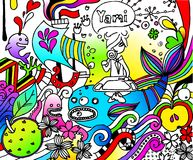 Imagination. Inner life and imagination of an artist Royalty Free Illustration