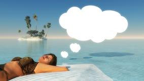 Imagination beach Stock Photo