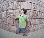 Imagination - Boy pretends to be ancient Egyptian Royalty Free Stock Images