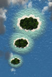 Imagination Cloud Islands. From Above Stock Images