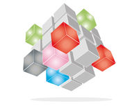 Imagination cube Stock Images