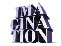IMAGINATION 3D lettering Stock Image