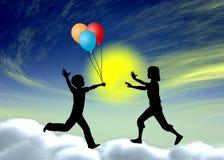 Imagination dans la petite enfance Photo stock