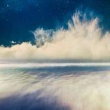 Imagination de paysage marin de nuit Photo libre de droits