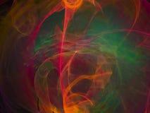 Imagination de texture d'élégance de fractale de résumé future numérique, conception numérique magique dynamique d'écoulement fut illustration de vecteur